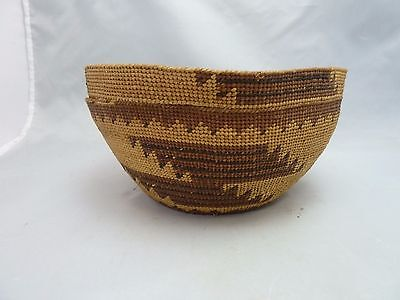 "Native American Weave Small Basket Bowl. Very Nice Design. Approx. 3.5"" T x6.5"""