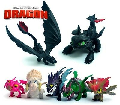 7 PCS How To Train Your Dragon Figurines Play Set Figure Toys Birthday Gift