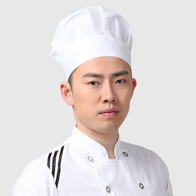 Popular Elastic White Chef Hat Baker BBQ Kitchen Cooking Hat Costume Cap