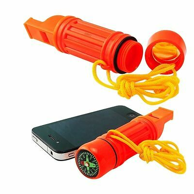 Brand 5 in 1 Camping Emergency Survival Whistle Compass Flint Capsule 2017 AA