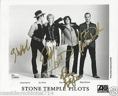 Scott Weiland and Stone Temple Pilots reprint signed early promo photo #2 RP