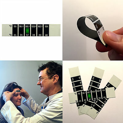 LCD Forehead Professional Thermometer Strips with Fast Reading - Pack of 50