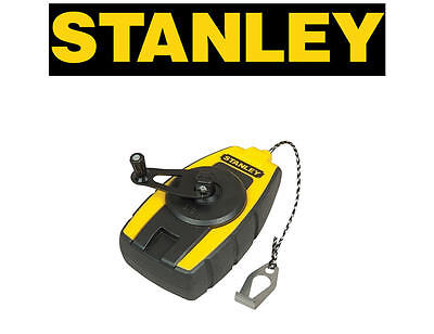 STANLEY Mini Compact Small Chalk Powder Line Measure Reel 9m 29ft, 047147