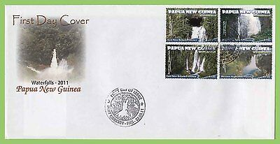 Papua New Guinea 2011 Waterfalls set on First Day Cover