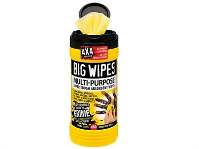 80 HEAVY DUTY BIG 4X4 Multi-Purpose Hand Oil,Silicone,Paint,Grease Wipes BGW2410