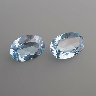 Synthetischer Aquamarin 8 x 6 mm Oval / Box 2 (14)