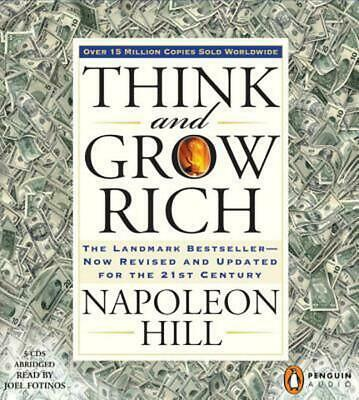 Think and Grow Rich by Napoleon Hill (English) Compact Disc Book Free Shipping!