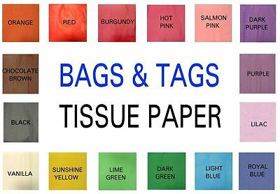 1 Ream 480 Sheets Tissue Paper 17 Colour Options  500mm x 750mm