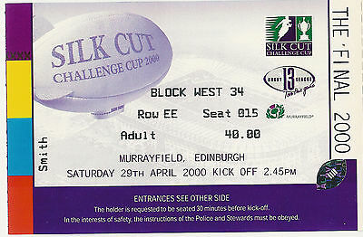 Bradford Bulls v Leeds Rhinos 2000 Challenge Cup Final RUGBY LEAGUE TICKET