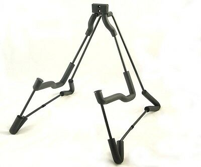 Universal Electric Bass Acoustic Black A-Frame Wire Guitar Stand Holder UK