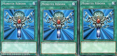 3 Card Playset Monster Reborn YGLD commons