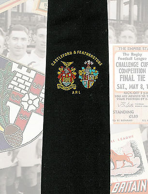 Castleford & Featherstone ARL inter league match players 7.5cm RUGBY LEAGUE TIE