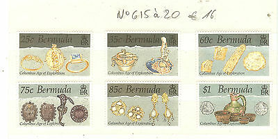Bermuda Lot Timbres Themes Christophe Colomb Ect ..