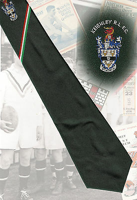Keighley RLFC players tie circa 1986/7  - 7.5cm RUGBY LEAGUE TIE