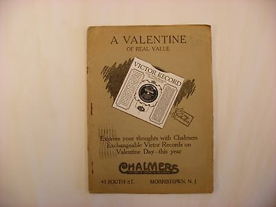 Original Victor Phonograph Records Catalog - February, 1923 Chalmers Mailer