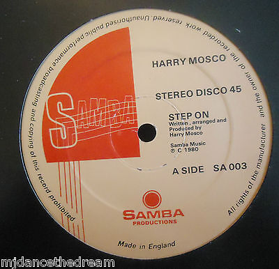 "HARRY MOSCO ~ Step On / Sexy Dancer ~ 12"" Single"