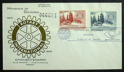 Colombia 1955 Rotary FDC Cover #771