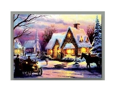 Premier LED Light Up Battery Operated Christmas Canvas Vintage Car Horse Church