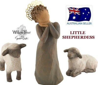 LITTLE SHEPHERDESS NATIVITY Demdaco Willow Tree Figurine By Susan Lordi NEW