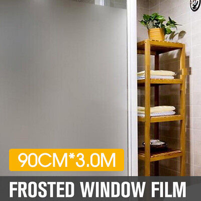 90cm*5m Sand Blast Clear Privacy Frosted Frosting Removable Windows Glass Film