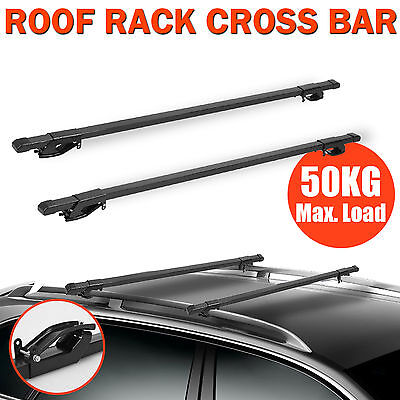 Universal 135cm Cross Bars Car Roof Rack Top Rails Luggage Cargo Carrier Storage