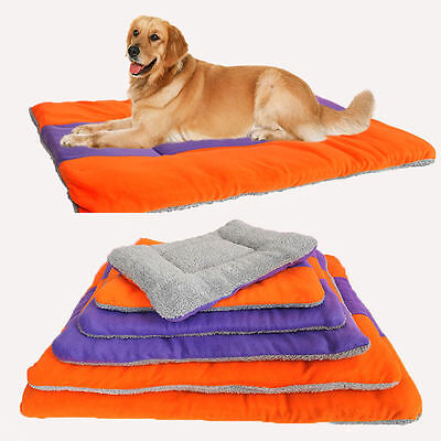 New Large Warm Soft Fleece Pet Dog Kennel Cat Puppy Bed Mat Pad Kennel Cushion