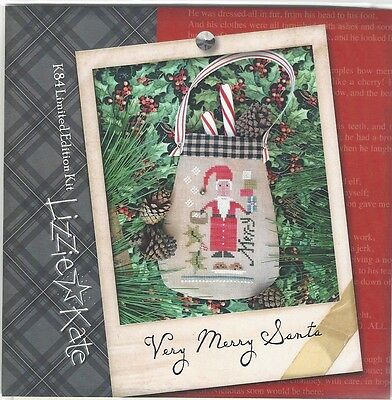 Lizzie Kate Very Merry Santa Limited Edition Cross Stitch Kit