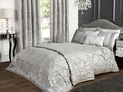 KLiving Luxury Charleston Grey Woven Jacquard Embossed Bedding Collection