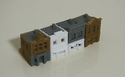 Outland Models Train Railway Shop / Store Front Building x4 (Style A) Z Scale