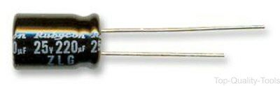 5 X Electrolytic Capacitor, Miniature, 220 µF, 25 V, ZLG Series, ± 20%, Radial L