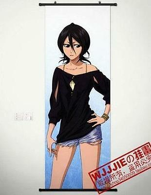 "New Home Decor Poster Wall Scroll 17.7""x49.2"" GB82 Anime BLEACH Kuchiki Rukia"