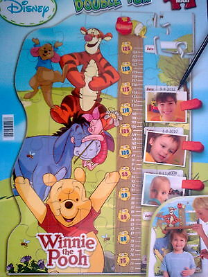Disney Winnie The Pooh Double Fun Height Chart Jigsaw Puzzle - New & Sealed
