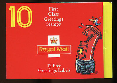 Gb 1991 Greetings Kx2 Pillar Box Mnh Booklet