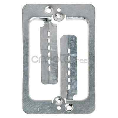 Single Gang Low Voltage Wall Plate Steel Drywall Mounting Bracket NEW