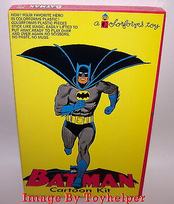 Batman Cartoon Kit Colorforms Toy Play Set 401 Unused Very Rare High Grade 1966