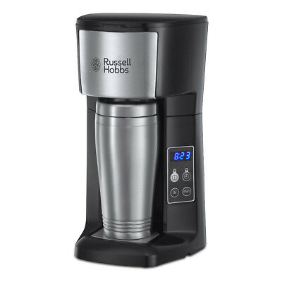 Russell Hobbs 22630 Brew & Go Coffee Machine with 400ml Travel Mug in Stainless