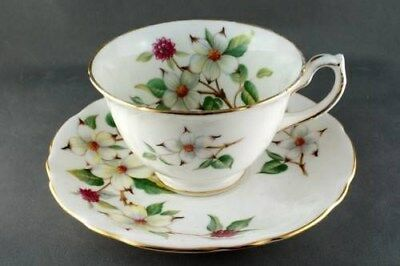Hammersley  Wide Dogwood Blossom  Floral Cup & Saucer