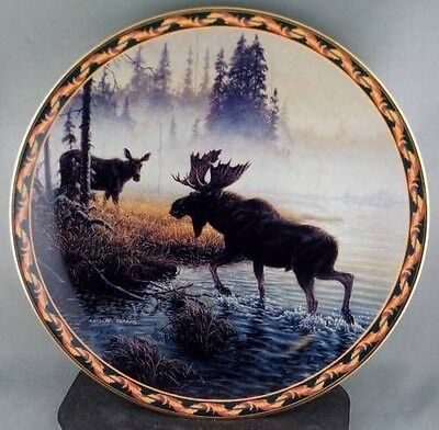 Michael Dumas Mist of the North Collector Plate Moose