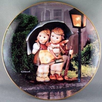 M. J. Hummel Stormy Weather Little Companions  Collector Plate