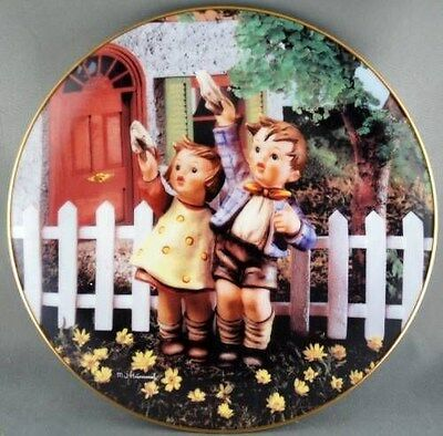 M. J. Hummel Come Back Soon Little Companions  Collector Plate
