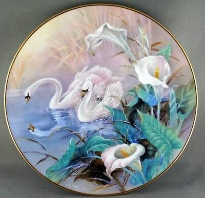 Lena Liu The Swans Collector Plate -- On Wings of Snow Series