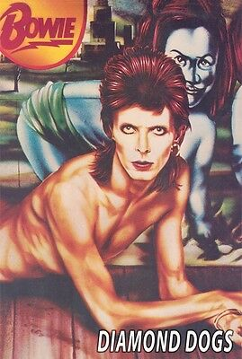 DAVID BOWIE ~ DIAMOND DOGS 24x36 MUSIC POSTER Album Cover Art
