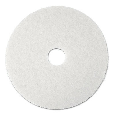 3M Super Polish Floor Pad 4100, 17 In., White, 5 Pads/Carton, CT - MMM08481