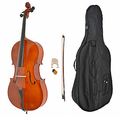 4/4 cello with bow, rosin and gig bag, padded case - violoncello