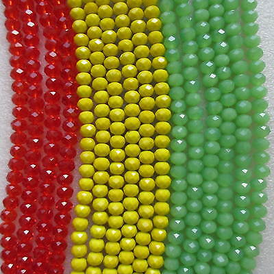 4mm 6mm 8mm Jamaica Beads Beautiful Faceted Rondelle Glass Crystal in Strings