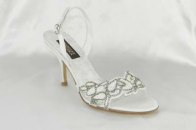 AUTHENTIC Badgley Mischka Naomi II M1027B NEW Bridal Shoes RETURN POLICY