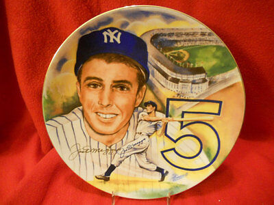 "NY Yankee Joe Dimaggio Yankee Clipper Signed 10 1/4"" Marigold Plate PRICE DROP!!"