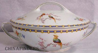 ALTROHLAU Czechoslovakia china VICTORIA pattern Round Covered Serving Bowl