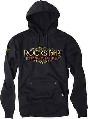 Mens Factory Effex Apparel Black Fleece Rockstar Vegas Hooded Sweatshirt