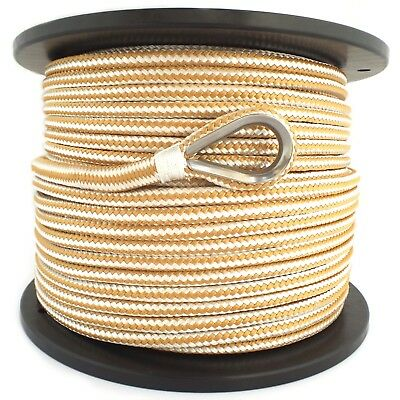 10mm x 100M Double Braid Nylon Anchor Rope, Super Strong, Great for Drum Winches